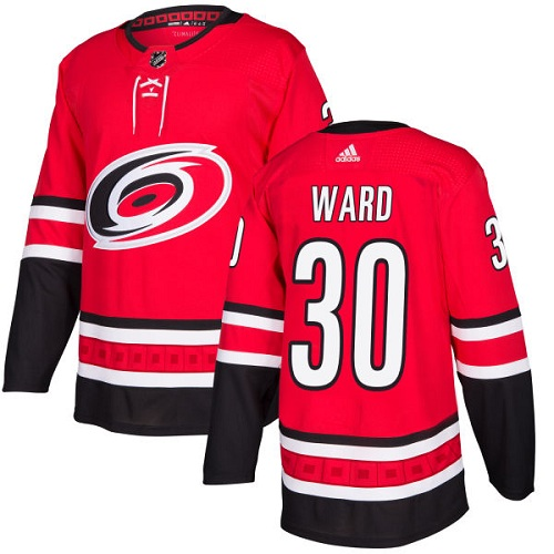 Adidas Hurricanes #30 Cam Ward Red Home Authentic Stitched NHL Jersey