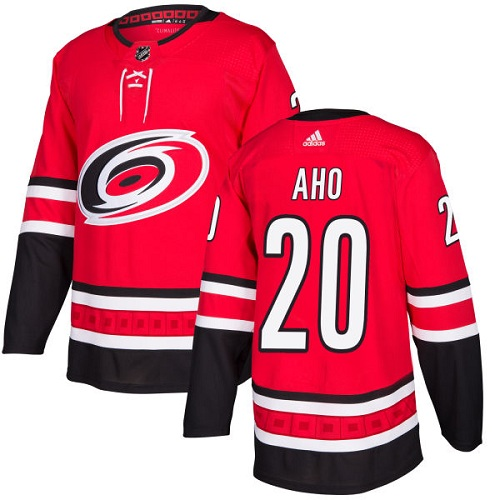 Adidas Hurricanes #20 Sebastian Aho Red Home Authentic Stitched NHL Jersey