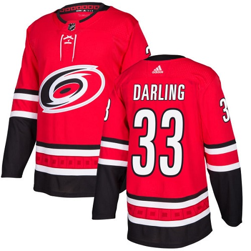 Adidas Hurricanes #33 Scott Darling Red Home Authentic Stitched NHL Jersey