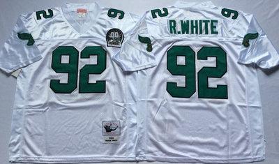 Eagles 92 Reggie White White Throwback Jersey