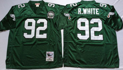 Eagles 92 Reggie White Green Throwback Jersey