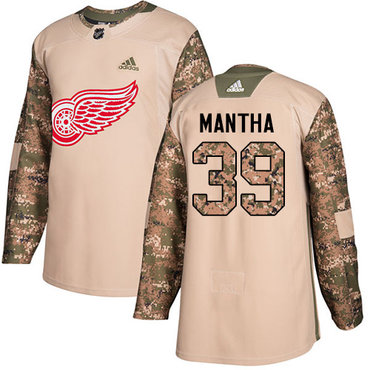 Adidas Red Wings #39 Anthony Mantha Camo Authentic 2017 Veterans Day Stitched NHL Jersey