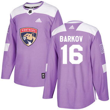 Adidas Panthers #16 Aleksander Barkov Purple Authentic Fights Cancer Stitched NHL Jersey