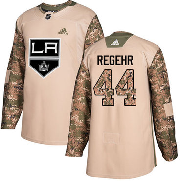 Adidas Kings #44 Robyn Regehr Camo Authentic 2017 Veterans Day Stitched NHL Jersey
