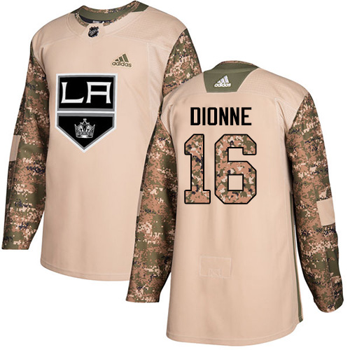 Adidas Kings #16 Marcel Dionne Camo Authentic 2017 Veterans Day Stitched NHL Jersey