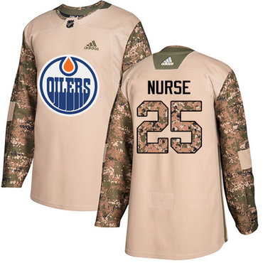 Adidas Oilers #25 Darnell Nurse Camo Authentic 2017 Veterans Day Stitched NHL Jersey