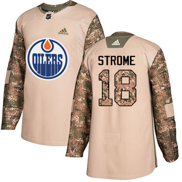 Adidas Edmonton Oilers #18 Ryan Strome Camo Authentic 2017 Veterans Day Stitched NHL Jersey