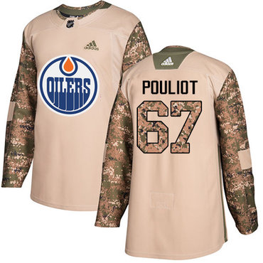 Adidas Oilers #67 Benoit Pouliot Camo Authentic 2017 Veterans Day Stitched NHL Jersey