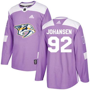 Adidas Predators #92 Ryan Johansen Purple Authentic Fights Cancer Stitched NHL Jersey