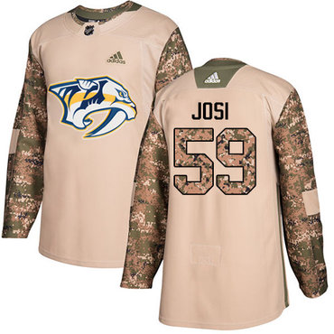 Adidas Predators #59 Roman Josi Camo Authentic 2017 Veterans Day Stitched NHL Jersey