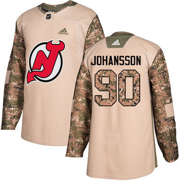 Adidas Devils #90 Marcus Johansson Camo Authentic 2017 Veterans Day Stitched NHL Jersey