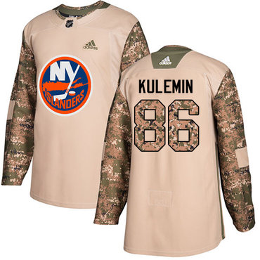 Adidas Islanders #86 Nikolay Kulemin Camo Authentic 2017 Veterans Day Stitched NHL Jersey