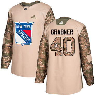 Adidas Rangers #40 Michael Grabner Camo Authentic 2017 Veterans Day Stitched NHL Jersey