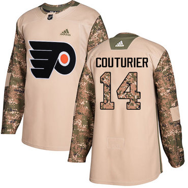Adidas Flyers #14 Sean Couturier Camo Authentic 2017 Veterans Day Stitched NHL Jersey