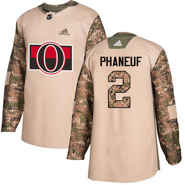 Adidas Senators #2 Dion Phaneuf Camo Authentic 2017 Veterans Day Stitched NHL Jersey