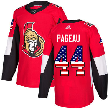 Adidas Senators #44 Jean-Gabriel Pageau Red Home Authentic USA Flag Stitched NHL Jersey