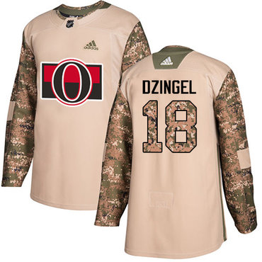 Adidas Senators #18 Ryan Dzingel Camo Authentic 2017 Veterans Day Stitched NHL Jersey