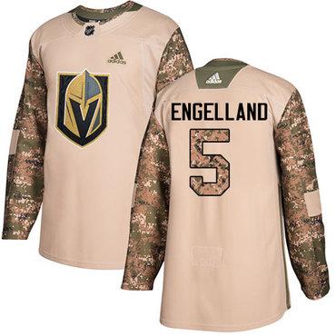 Adidas Golden Knights #5 Deryk Engelland Camo Authentic 2017 Veterans Day Stitched NHL Jersey