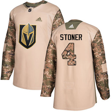Adidas Golden Knights #4 Clayton Stoner Camo Authentic 2017 Veterans Day Stitched NHL Jersey