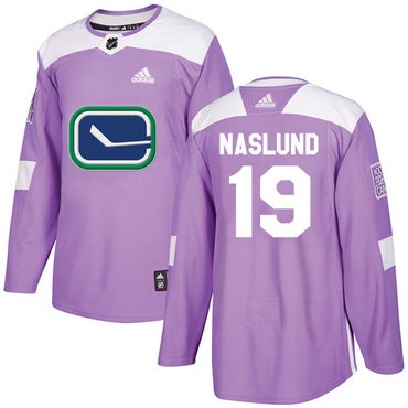 Adidas Canucks #19 Markus Naslund Purple Authentic Fights Cancer Stitched NHL Jersey