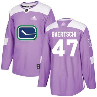 Adidas Canucks #47 Sven Baertschi Purple Authentic Fights Cancer Stitched NHL Jersey