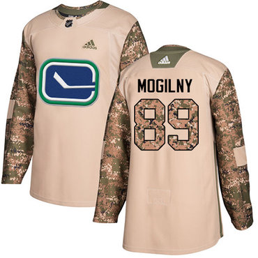 Adidas Canucks #89 Alexander Mogilny Camo Authentic 2017 Veterans Day Stitched NHL Jersey