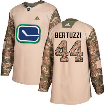 Adidas Canucks #44 Todd Bertuzzi Camo Authentic 2017 Veterans Day Stitched NHL Jersey