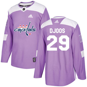 Adidas Capitals #29 Christian Djoos Purple Authentic Fights Cancer Stitched NHL Jersey