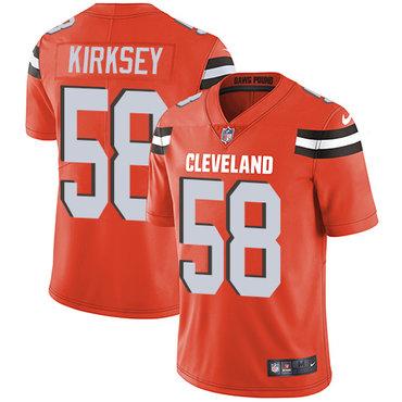 Nike Browns #58 Christian Kirksey Orange Alternate Men's Stitched NFL Vapor Untouchable Limited Jersey