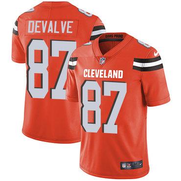 Nike Browns #87 Seth DeValve Orange Alternate Men's Stitched NFL Vapor Untouchable Limited Jersey