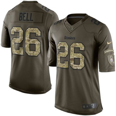 Nike Steelers #26 Le'Veon Bell Green Men's Stitched NFL Limited 2015 Salute to Service Jersey