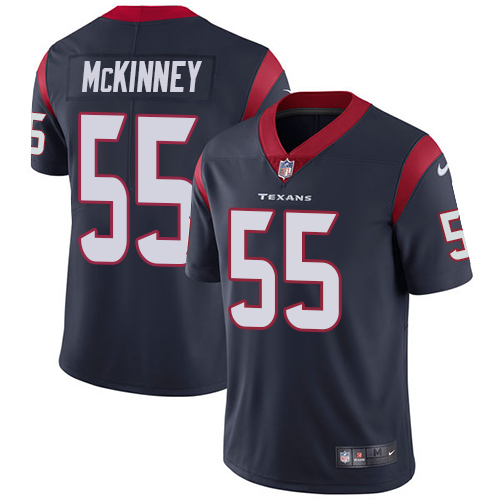 Nike Texans #55 Benardrick McKinney Navy Blue Team Color Men's Stitched NFL Vapor Untouchable Limited Jersey