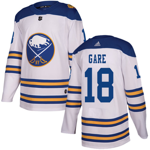 Adidas Sabres #18 Danny Gare White Authentic 2018 Winter Classic Stitched NHL Jersey