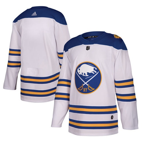 Adidas Sabres Blank White Authentic 2018 Winter Classic Stitched NHL Jersey