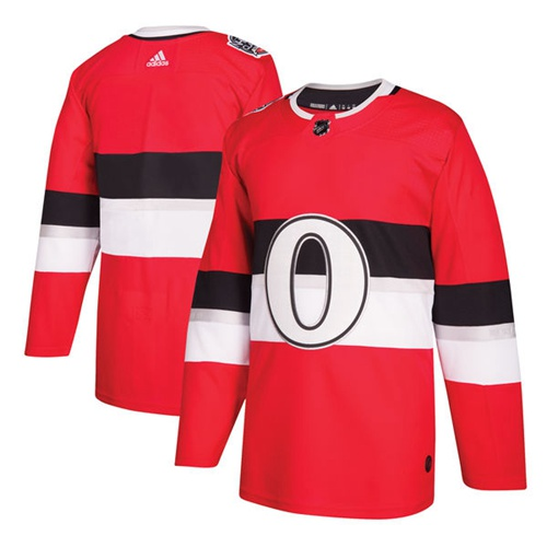 Adidas Senators Blank Red Authentic 2017 100 Classic Stitched NHL Jersey