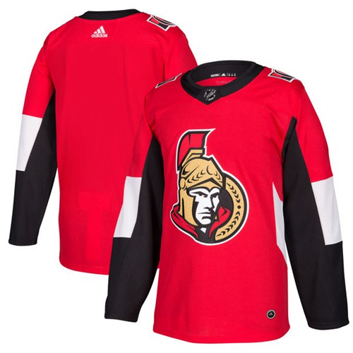 Adidas Senators Blank Red Home Authentic Stitched NHL Jersey