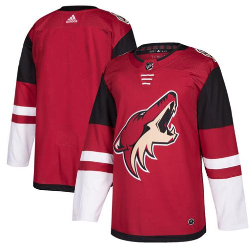 Adidas Coyotes Blank Maroon Home Authentic Stitched NHL Jersey