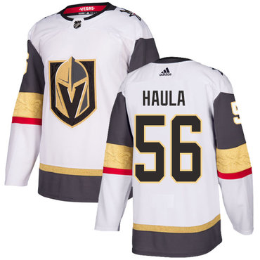 Adidas Golden Knights #56 Erik Haula White Road Authentic Stitched NHL Jersey