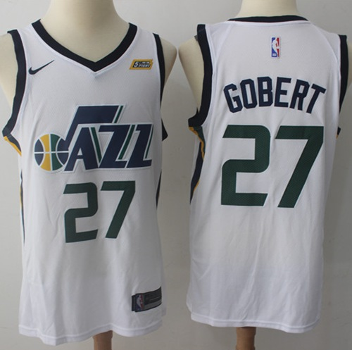 Nike Jazz #27 Rudy Gobert White NBA Swingman Association Edition Jersey