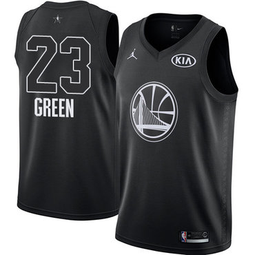 Nike Warriors #23 Draymond Green Black NBA Jordan Swingman 2018 All-Star Game Jersey