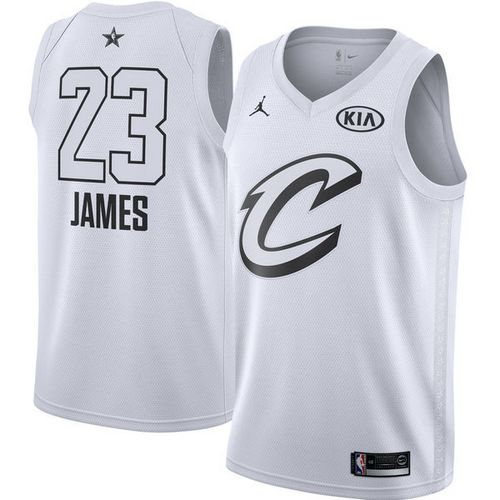 Nike Cavaliers #23 LeBron James White NBA Jordan Swingman 2018 All-Star Game Jersey