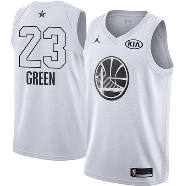Nike Warriors #23 Draymond Green White NBA Jordan Swingman 2018 All-Star Game Jersey