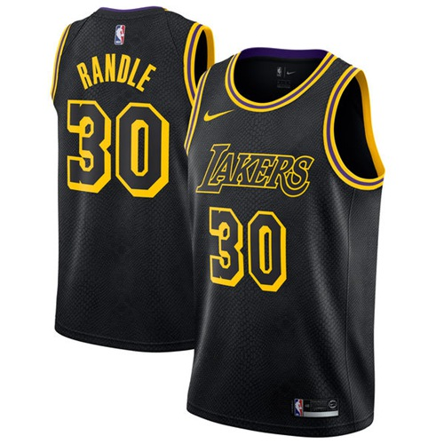 Nike Los Angeles Lakers #30 Julius Randle Black NBA Swingman City Edition Jersey