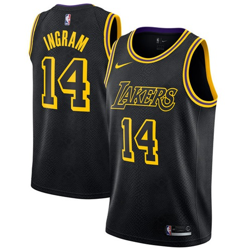 Nike Los Angeles Lakers #14 Brandon Ingram Black NBA Swingman City Edition Jersey