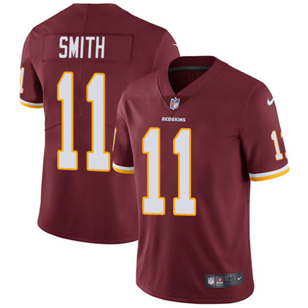 Youth Nike Washington Redskins #11 Alex Smith Burgundy Red Team Color Stitched NFL Vapor Untouchable Limited Jersey