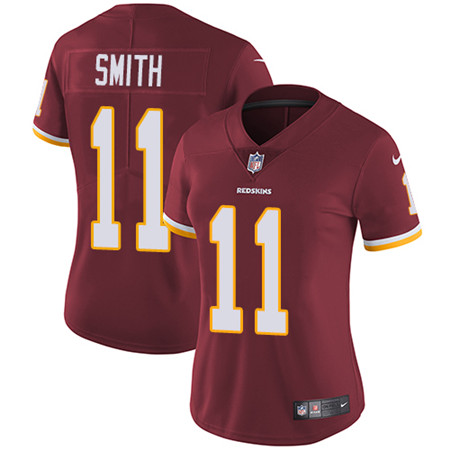 Women's Nike Washington Redskins #11 Alex Smith Burgundy Red Team Color Stitched NFL Vapor Untouchable Limited Jersey