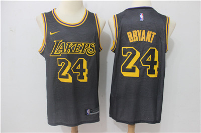 Nike Lakers #24 Kobe Bryant Black City Edition Swingman Jersey