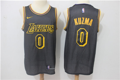 Nike Lakers #0 Kyle Kuzma Black Nike City Edition Swingman Jersey