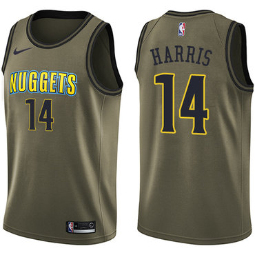 Nike Denver Nuggets #14 Gary Harris Green Salute to Service NBA Swingman Jersey