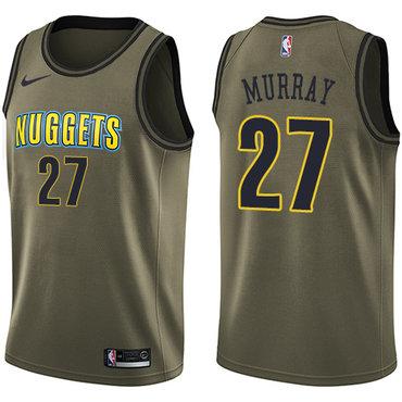 Nike Denver Nuggets #27 Jamal Murray Green Salute to Service NBA Swingman Jersey